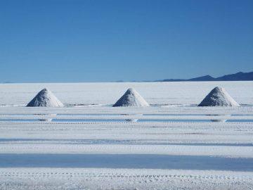 Salt harvest In The Salar de Uyuni