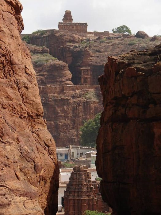 View Of Temples From Badami