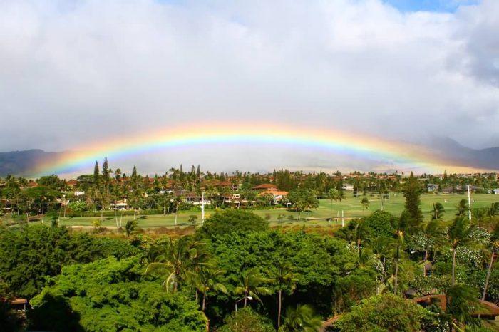 Rainbow At Kaanapali Beach, Hawaii