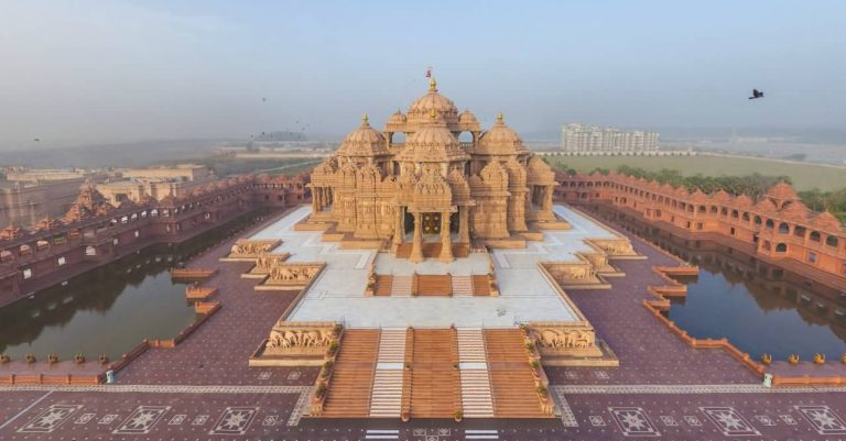 Akshardham Temple Aerial View