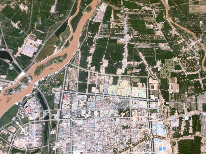 Yellow River, Satellite Image