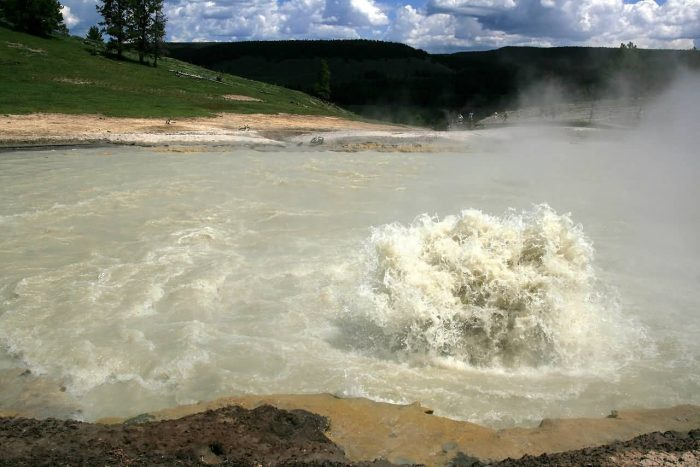 Boiling Lake In Yellowstone National Park