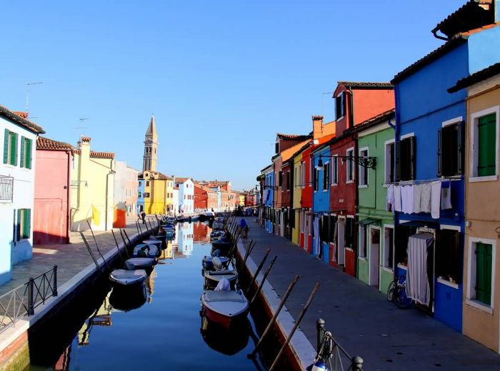 Late Afternoon On Burano Island