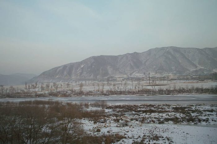 Tumen River In Winter