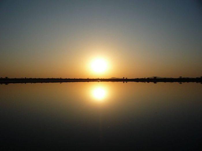 Sambhar Lake Sunset Scene