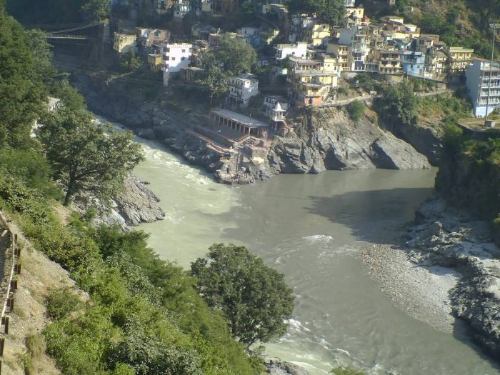 Alaknanda River And Bhagirathi River