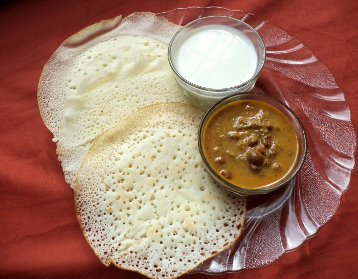 Appams And Kadala Curry With Coconut Milk
