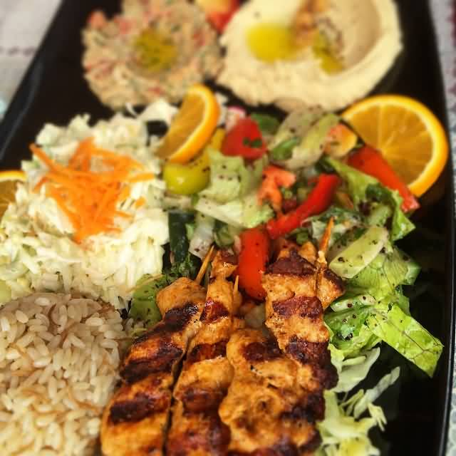 Marinated Lebanese Lunch With Shish Taouk