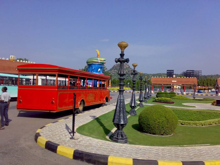 Ramoji Film City Special Bus For Visitors