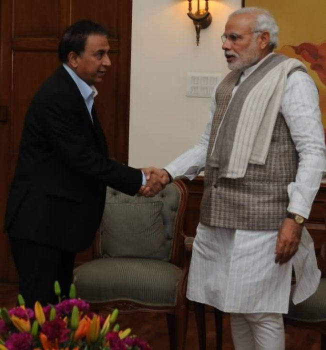 Shri Sunil Gavaskar Called On The PM Modi