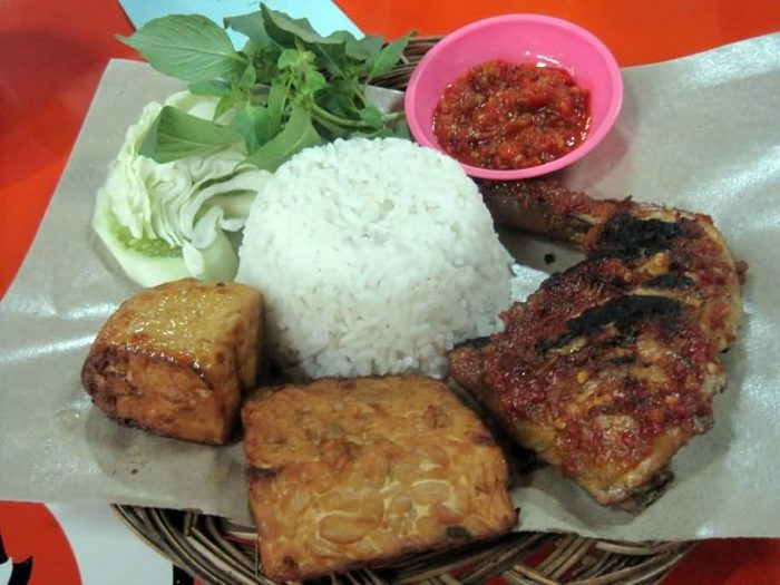 Soybean Cakes And Ayam Bakar