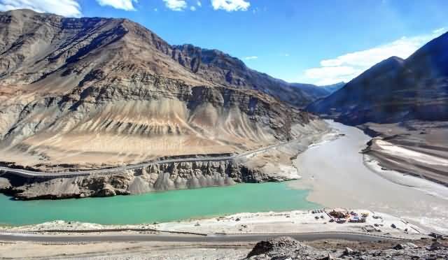 Zanskar River And Indus River