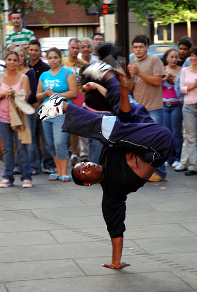 B-boying or breaking
