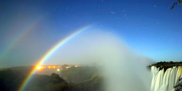 Lunar Rainbow at Victoria Falls