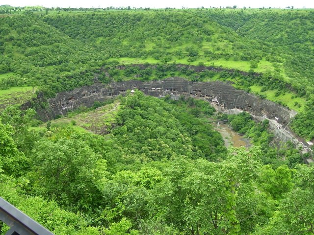 Ajanta Caves Aerial View