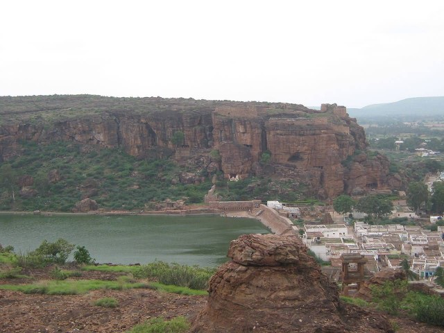Badami Caves View From Fort