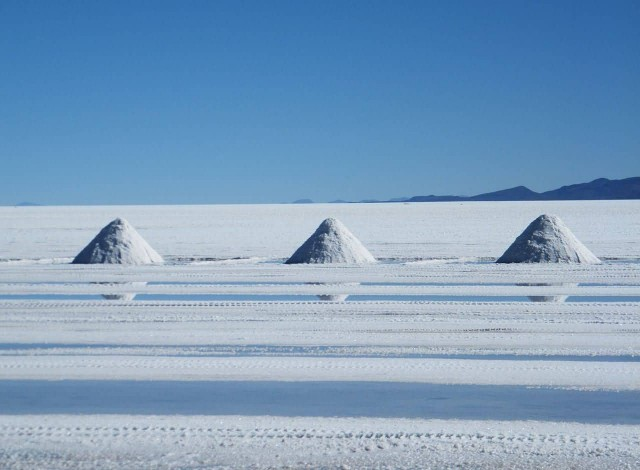 Salt harvest In The Salar de Uyuni