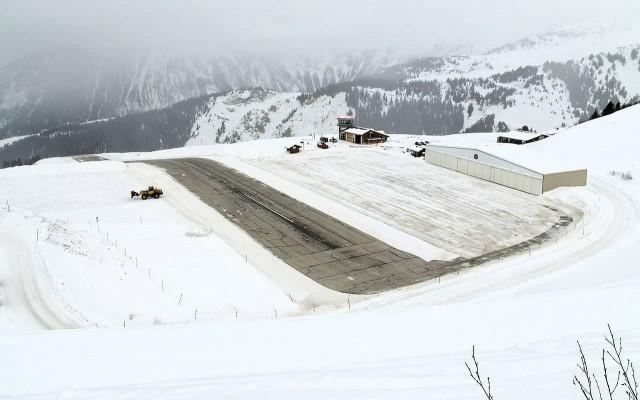 Courchevel International Airport In Winter