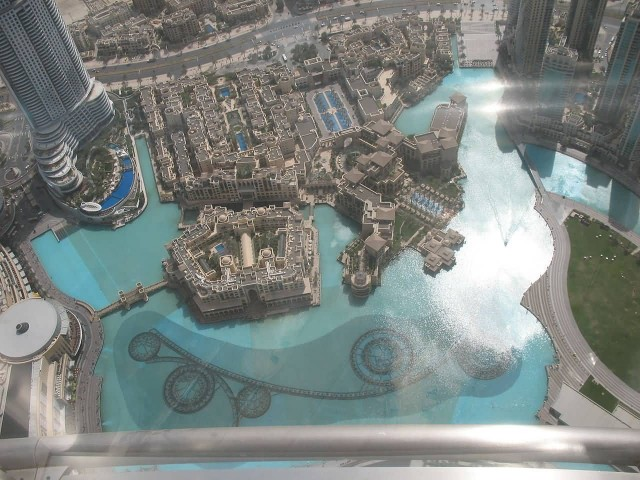 Dubai Fountain From At The Top Of Burj Khalifa