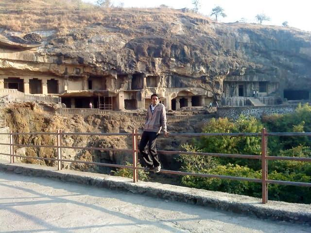 Ellora Cave Front View Of Hindu Temples
