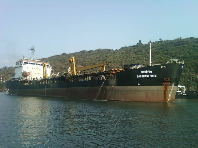 Ship Darshani Prem At Vizag Seaport