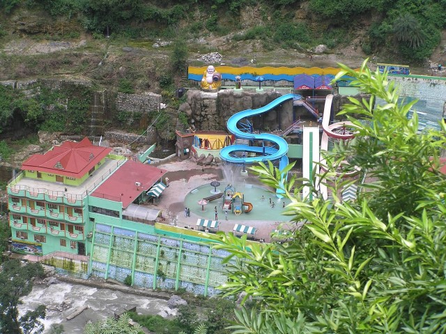 A View Of Water Park Near Sahastradhara Fall