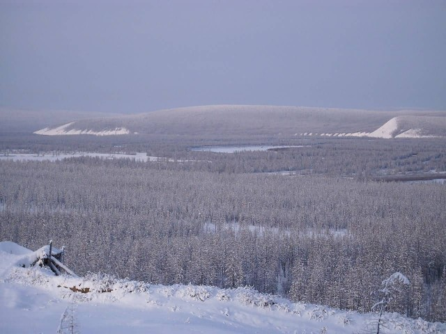 The Valley Basin Of Verkhoyansk