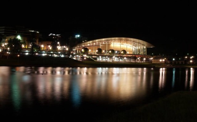 Adelaide Convention Center At Night