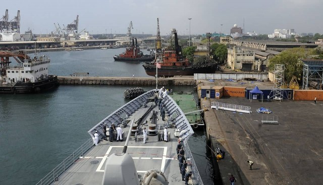 Navy Imagery USS Bunker Hill, Chennai
