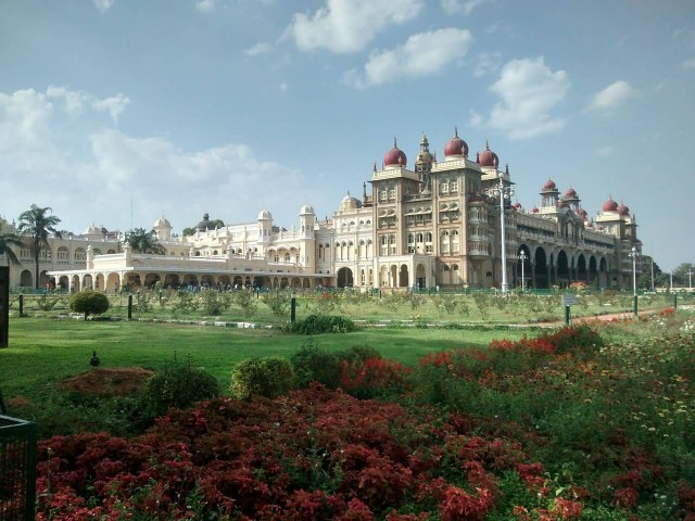 Mysore Palace South Gate View