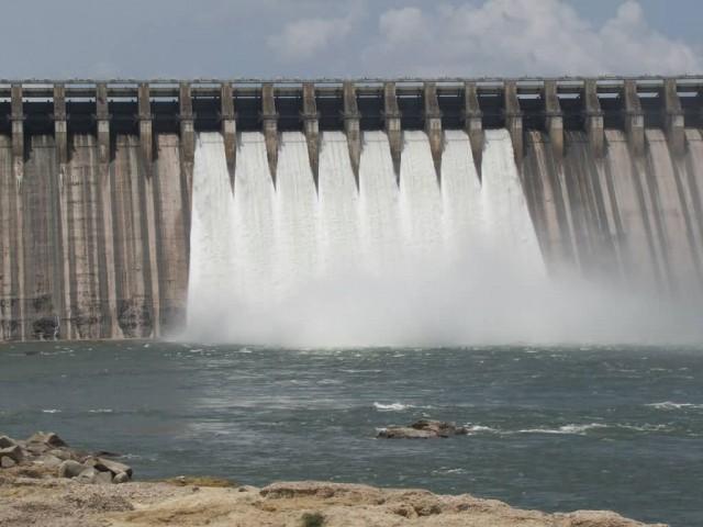 Nagarjuna Sagar Dam Gates View