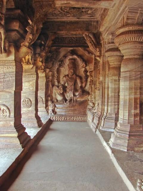 Vishnu Image Inside Cave