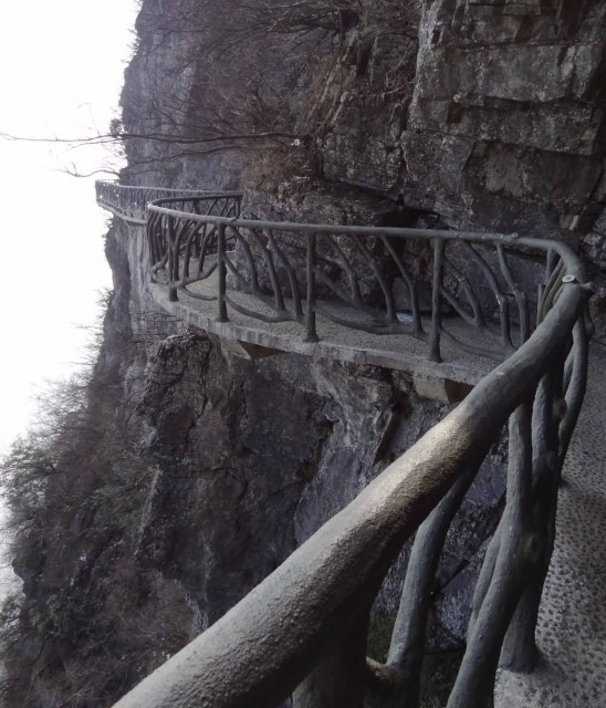 Tianmen Mountain Cliff Footpath