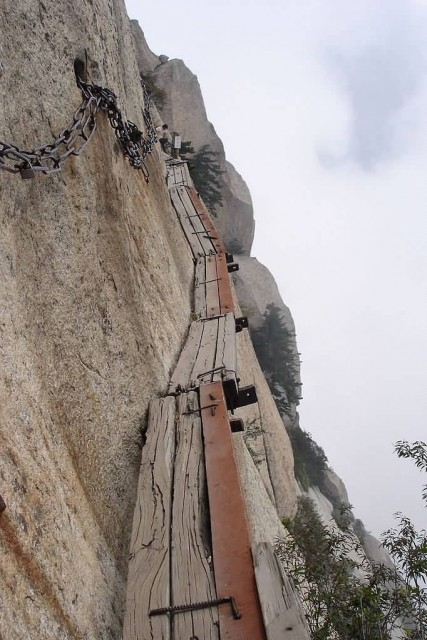 Thousand Feet Cliff Of The Hua Shan