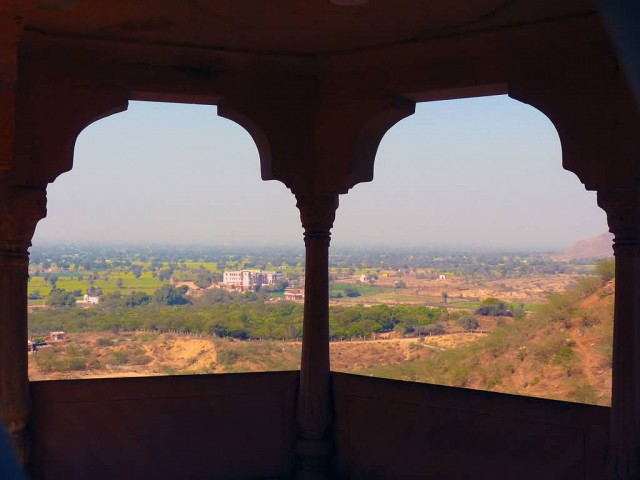 A View From Neemrana Fort Palace