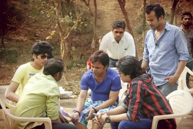 Abhishek Sharma With Rajpal Yadav And Sidhant Sigh