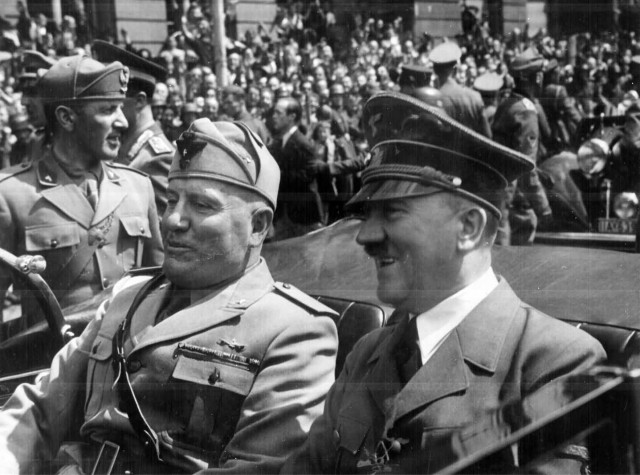 Adolf Hitler And Benito Mussolini In Germany