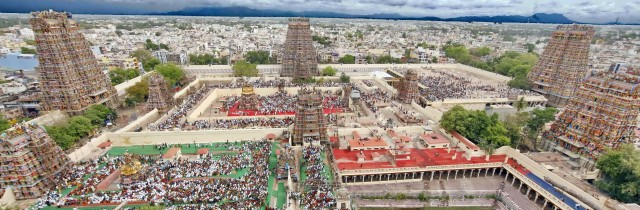 An Aerial view Of Madurai Meenakshi Amman Temple