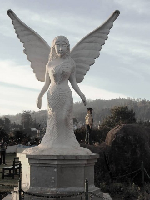 Angel Statue In Ooty Rose Garden