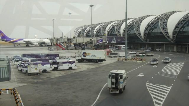 Apron Suvarnabhumi Airport Bangkok
