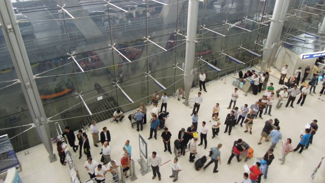 Arrivals Level Suvarnabhumi  Airport Bangkok
