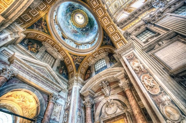 Ceiling Of St Peter-s-Basilica