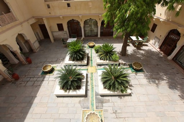 Courtyard Of Samode Palace