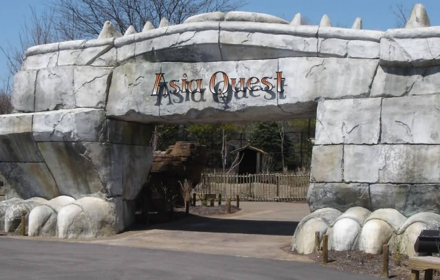 Entrance To Asia Quest Columbus Zoo