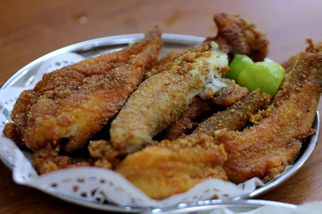 Fried Bombay duck
