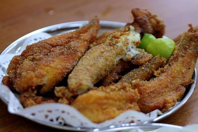 Fried Bombay duck
