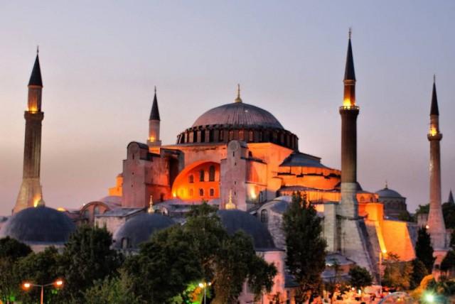 Hagia Sophia Istanbul At Dusk
