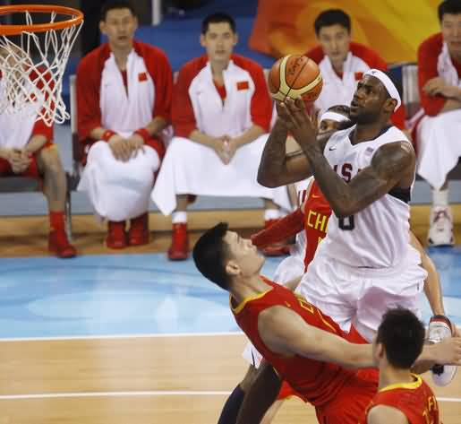 Lebron James Vs Yao Ming Olympics 2008
