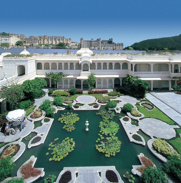 Lily Pond At Lake palace in Udaipur