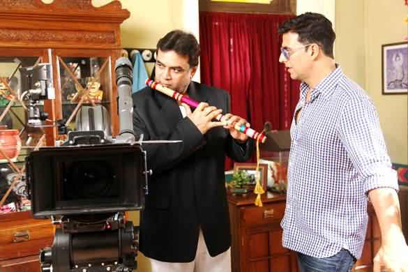 Presh Rawal And Akshay Kumar On OMG Set